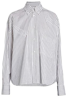 Plan C Regular-Fit Stripe Button-Down Shirt