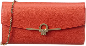 Salvatore Ferragamo Gancini Leather Mini Wallet