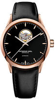 Raymond Weil Mens Freelancer Watch with Leather Strap