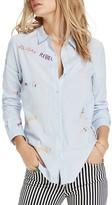 Scotch & Soda Rebel Embroidered Button-Down Shirt
