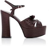 Saint Laurent Women's Candy Platform Sandals-BURGUNDY