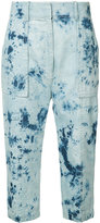 Victor Alfaro - Shibori japanese denim boyfriend jeans - women - Cotton - 2