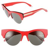 Victoria Beckham Women's 58Mm Retro Sunglasses - Amber Tortoise/ Grey