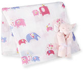 Angel Dear Take Me Home Elephant Swaddle Set