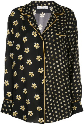 Oscar de la Renta Floral Print Pajama Shirt