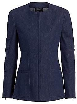 Akris Women's Slit Sleeve Denin Jacket