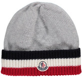 Moncler Striped Edge Wool Hat