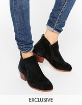 Hudson London Apisi Black Suede Mid Ankle Boots