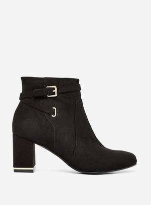 Dorothy Perkins Womens Black 'Anna' Buckle Boots, Black
