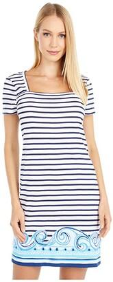 Lilly Pulitzer Rexa Dress (True Navy On The Horizon Stripe Engineered) Women's Dress