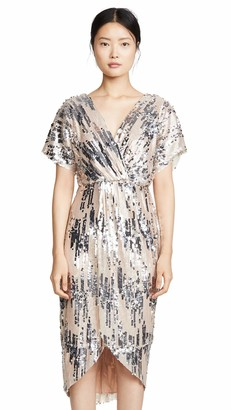 ASTR the Label Women's Paloma Sequin Surplice Crossover Dress