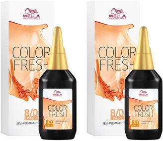 Wella Professionals Color Fresh Semi-Permanent Colour Light Blonde 75ml Duo Pack