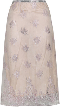 Tome Embroidered Tulle Skirt