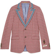 Gucci Heritage houndstooth wool jacket