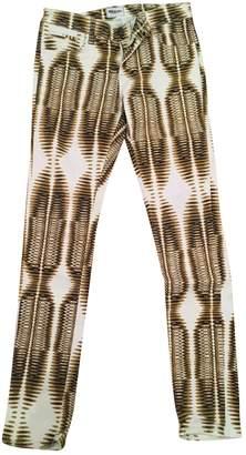 American Retro Multicolour Cotton - elasthane Jeans for Women