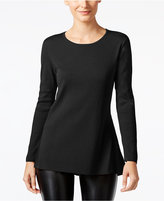 Alfani Ribbed-Trim Peplum Sweater, Only at Macy's