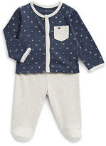 Tommy Hilfiger Two-Piece Printed Button Top and Footed Pants Set