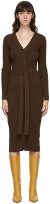 Maryam Nassir Zadeh Brown Hyatt Cardigan Mid-Length Dress