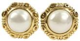 Chanel Gold Tone Earrings