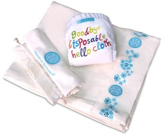 Charlie Banana Blanket Organic Cotton with Diaper and One in Drawstring Bag, Extra Small