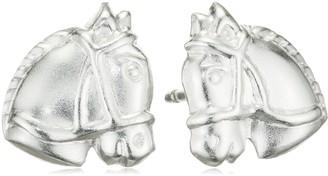 Schmuckdesign Nord Horses Stallion Animal Children's Ear Stud Earrings 925 Silver 10 mm Pack of 2 / 1 Pair