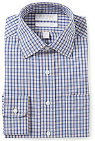 Roundtree & Yorke Gold Label Non-Iron Fitted Classic-Fit Spread-Collar Checked Dress Shirt