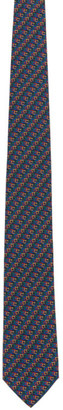 Salvatore Ferragamo Multicolor Silk Print Tie