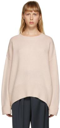 Arch4 Pink Cashmere Knightsbridge Crewneck Sweater