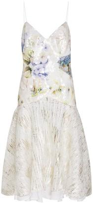 Rodarte Watercolor Hydrangea Print Dress