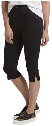 Hue Ultra Soft Denim High-Waist Short Capris (Black) Women's Shorts