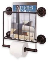 Organize It All Oil Rubbed Wall Mount Magazine Rack in Bronze