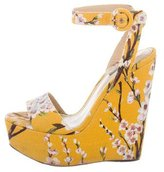 Dolce & Gabbana Cherry Blossom Platform Wedges