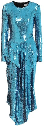 Preen by Thornton Bregazzi Valena asymmetric sequined dress