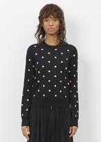 Comme des Garcons black pink polka dot crew neck sweater