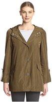 Anne Klein Women's Button Down Raincoat