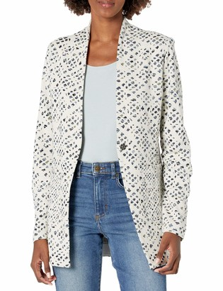 Nic+Zoe Women's Abstract Check Blazer