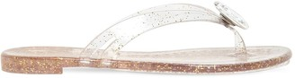 Casadei 10mm Embellished Rubber Thong Flats
