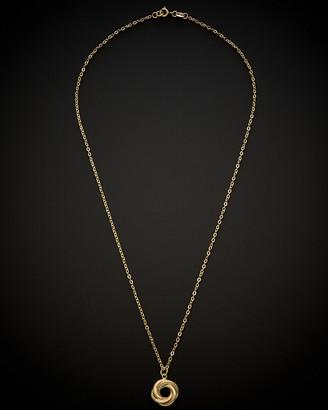 Italian Gold 14K Love Knot Pendant Necklace
