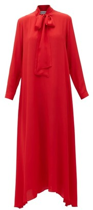 ODYSSEE Dr Hoyt Pussy-bow Crepe Dress - Red