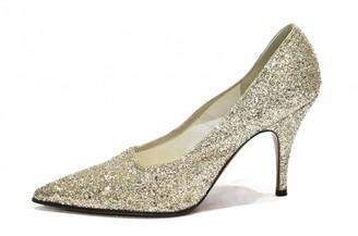 Victoria Beckham Silver Glitter Heels