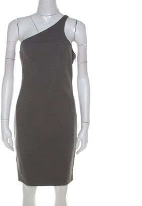Alexander Wang Stretch Cotton Side Zipper Detail One Shoulder Dress M