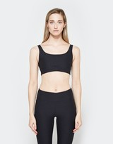 A.P.C. Double Scoop Bra in Anthracite