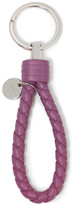 Bottega Veneta Intrecciato Leather Keychain - Purple