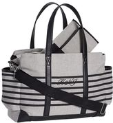 Pottery Barn Kids Gray Stripe Classic Diaper Bag