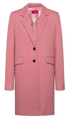 HUGO BOSS Textured wool-blend coat with flap pockets