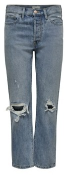 Only Fine Hi Rise Straight Leg Crop Denim