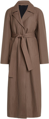 Lemaire Straight Wool-Linen Coat