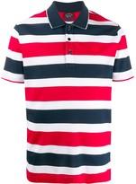 Paul & Shark short sleeve block stripe polo shirt