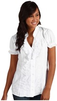 Scully Cantina Chris Tie Back Blouse (White) - Apparel