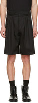 J.W.Anderson Black Pleat Front Baggy Shorts